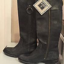 Nwt Frye Jamie Ring Tall Riding Boots Grey 6.5 Photo