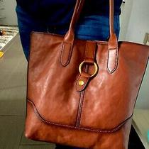 Nwt Frye Leather Ring Tote Cognac Hobo Shoulder Bag Db320 Msrp 428 Photo