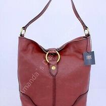 Nwt Frye Ring Hobo Front Zip Pocket Shoulder Bag Cognac Tan Leather 398 Photo