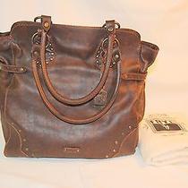 Nwt Frye Vintage Stud Handbag / Shoulder Tote - Maple Photo