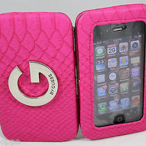 Nwt G by Guess Phone Case Id Wristlet Iphone 4 / 4s Wallet Pink Matte Photo