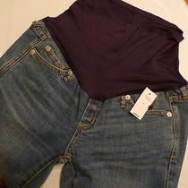 Nwt Gap 1969 Authentic Real Straight Leg Stretch Maternity Jeans Sz 25 / 0  Photo