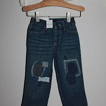 Nwt Gap Baby Porcelain Collection Patched Distressed Woodstock Jeans 18-24 Mos Photo