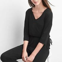 Nwtgap Black 3/4 Length Sleeve Tie Waist Jumpsuitsize M  Photo