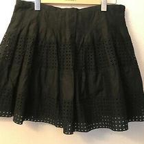 Nwt Gap Black Eyelet Lace Full Skirt Cotton Size 10 (No Reserve) Photo