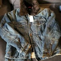 Nwt Gap Boy's Fur Jean Jacket Size Xl (12) Photo