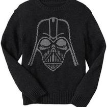 Nwt Gap Boys Junk Food Star Wars Darth Vader Intarsia Knit Sweater Xs 4 5 Photo