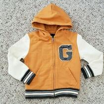 Nwt Gap Boys Yellow Varsity Vintage Style Zip Up Hooded Jacket Pockets Sz Xs 4-5 Photo