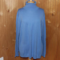 Nwt Gap Eversoft Bella Turtleneck Sweater Top Shirt Moore Blue Womens Xl New Photo