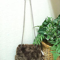 Nwt Gap Faux Fur Chainstrap Handbag Brown Photo