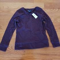 Nwt Gap Girl's Owl Long Sleeve Tee T-Shirt  Purple Size S 6-7 Photo
