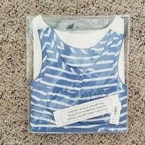 Nwt Gap Girls 2-Pc Blue & White Striped Tank & Shorts Pajama Set Loose Fit Sz 4t Photo