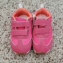 Nwt Gap Girls Bright Pink Casual Shoes Sneakers W/ Hook and Loop Closure Sz 8 C Photo
