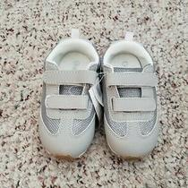 Nwt Gap Girls Gray Silver Casual Shoes Sneakers W/ Hook and Loop Closure Sz 8 C Photo