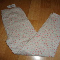 Nwt Gap Girls Leggings Gray With Pink Hearts Size 5 Years Photo