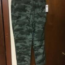 Nwt Gap Green Camo  Girlfriend Stretch Chinos Pants Size 2/26 Inseam Photo