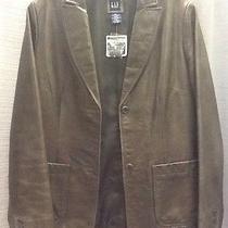 Nwt Gap Green Leather Blazer Sz S Photo