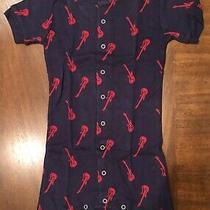 Nwt Gap Guitar Short One-Piece Pajamas Pj for Size 4 Navy With Red Guitars New Photo
