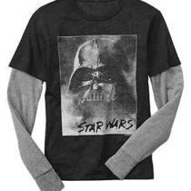 Nwt Gap Junk Food Fall 2014 Boys 2-in-1 Star Wars Darth Vader Tee S 6 7 Photo