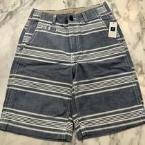 Nwt Gap Kids Boys 10 Regular Chambray Blue and White Stripe Shorts Photo