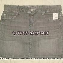 Nwt Gap Kids Girls Size 12 Gray Stretch Denim Mini Skirt Jeans New Photo