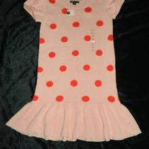 Nwt Gap Kids Girls Size 12 Xl Pink Sweater Dress Polka Dots New Photo