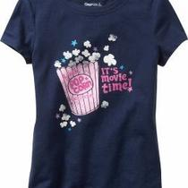 Nwt Gap Kids Its Movie Time Popcorn Shirt Top Xs 4-5 Photo