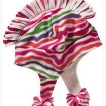 Nwt Gap Kids L/xl Mohawk Pink Fleece Hat and Scarf Set Photo