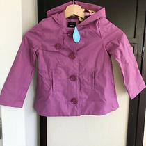 Nwt Gap Kids Purple Raincoat Jacket Girls Sz Xs (4-5) Photo