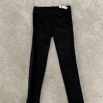Nwt Gap Kids Size 14 Black Leggings Tuxedo Sequin Side Stripe Stretch Skinny  Photo