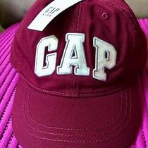 Nwt Gap Kids/youth Girls Logo Baseball Cap/hat Maroon/blue Sz Small/medium Photo
