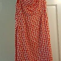 Nwt Gap Maternity Dress Size S Coral/white Print Tie Front Photo