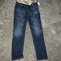 Nwt Gap Maternity Real Straight Jeans Sz 6 Blue Full Panel Photo