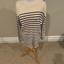 Nwt Gap Maternity White Blue Stripe Scoop Cotton Sweater Size Xl Photo