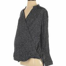Nwt Gap - Maternity Women Blue Long Sleeve Blouse M Maternity Photo