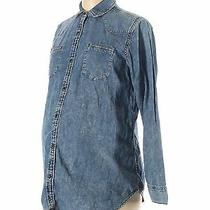 Nwt Gap - Maternity Women Blue Long Sleeve Button-Down Shirt M Maternity Photo