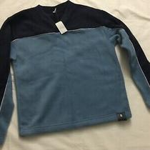 Nwt Gap Mens v-Neck Heavy Weight Fleece Pull Over Sweatshirt  Blue Navy S 44.9 Photo