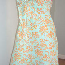Nwt Gap Mint Green Floral 100% Cotton Halter Sun Dress Sz 12  Photo