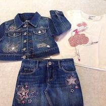 Nwt Gap Modern Dance 3pc Denim Set Ballet Rossette Stars Sz 3 Photo
