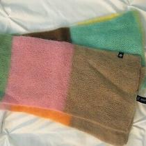 Nwt Gap Mohair Color Block Knit Colorful Winter Scarf Brown Green Orange Pink Photo