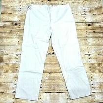 Nwt Gap  Size 20r Low Rise Flat Front Beige Cotton Pants Women Photo
