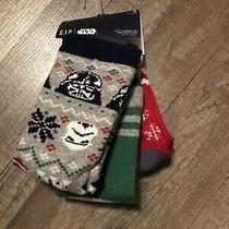 Nwt Gap Star Wars Boys Holiday Socks 3 Pair Size Small Shoe Size 10-12 Crew Cut Photo