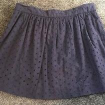 Nwt Gap Women's Dark Navy Blue Eyelet Lace Lined Skirt Sz 4 (59.95) Photo