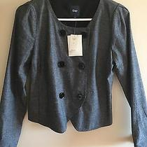 Nwt Gap Women's Double Breasted Grey Jacket Size Small Photo
