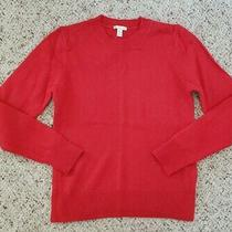 Nwt Gap Women's Light Red Crewneck Lambswool Sweater Sz Xs Photo