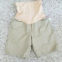 Nwt Gap Women's Maternity Tan Beige Shorts W/ Pockets Sz 2 Reg Photo