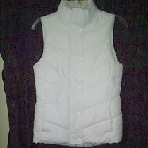 Nwt Gap Women's Xs White Puffer Vest.   I25 Photo