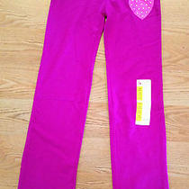 Nwt Girl's Bally Total Fitness Pink Purple Heart Yoga Pants Size Xs (4-5) Photo