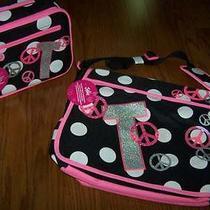 Nwt Girl's Justice Backpack Messenger Book Bag Inital