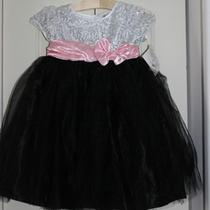 Nwt Girls Black Pink Silver Sequined Ballerina Fancy Dress Size 5 Photo
